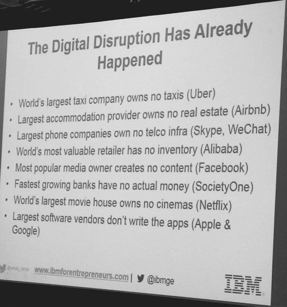 Digital Disruption slide